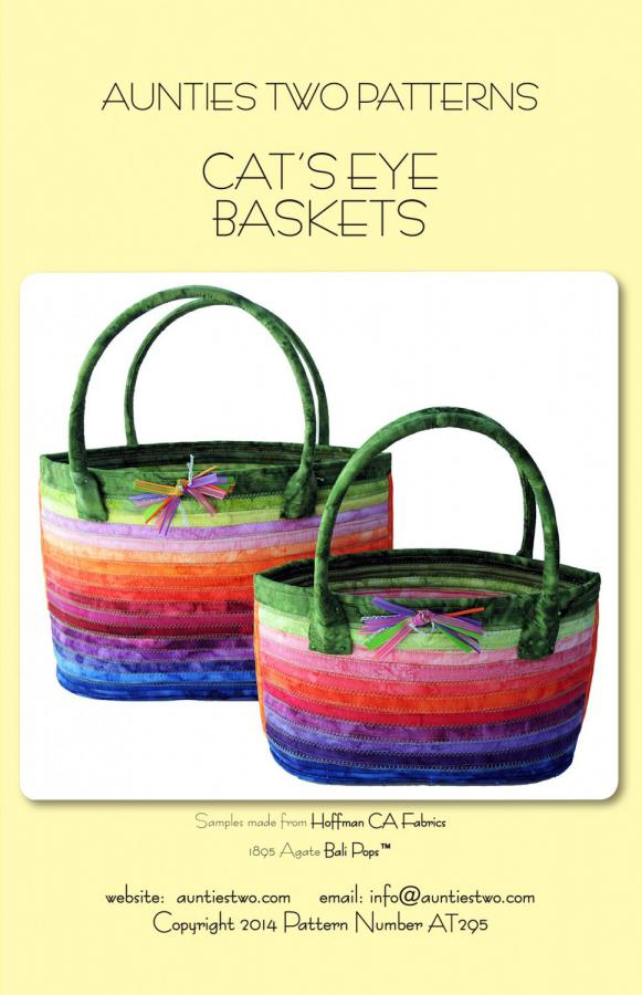 Cat's Eye Basket sewing pattern from Aunties Two