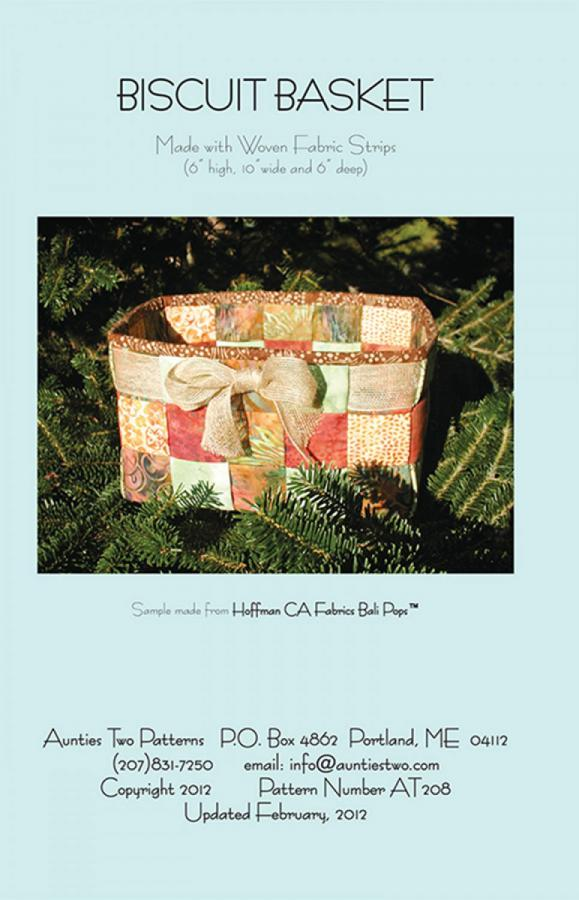Biscuit Basket sewing pattern from Aunties Two