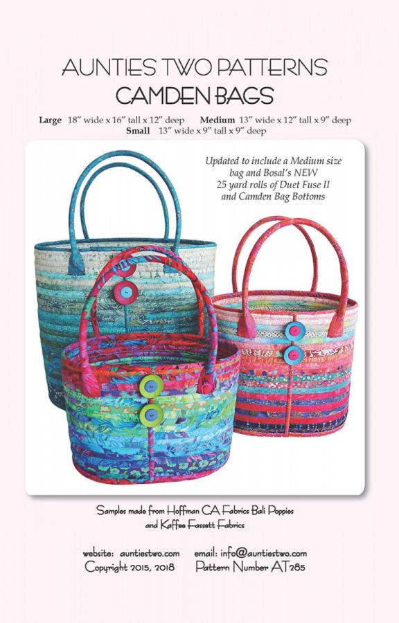Camden Bags sewing pattern from Aunties Two