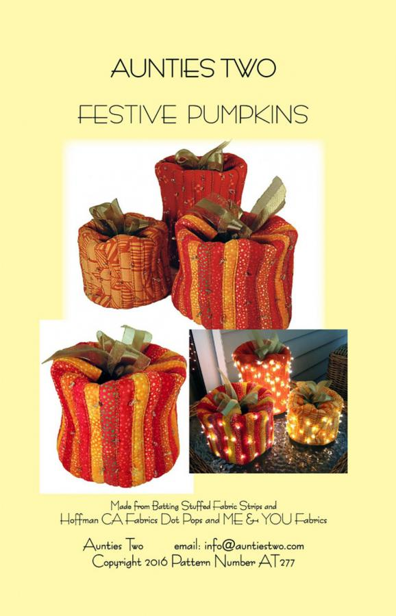 Festive Pumpkins sewing pattern from Aunties Two