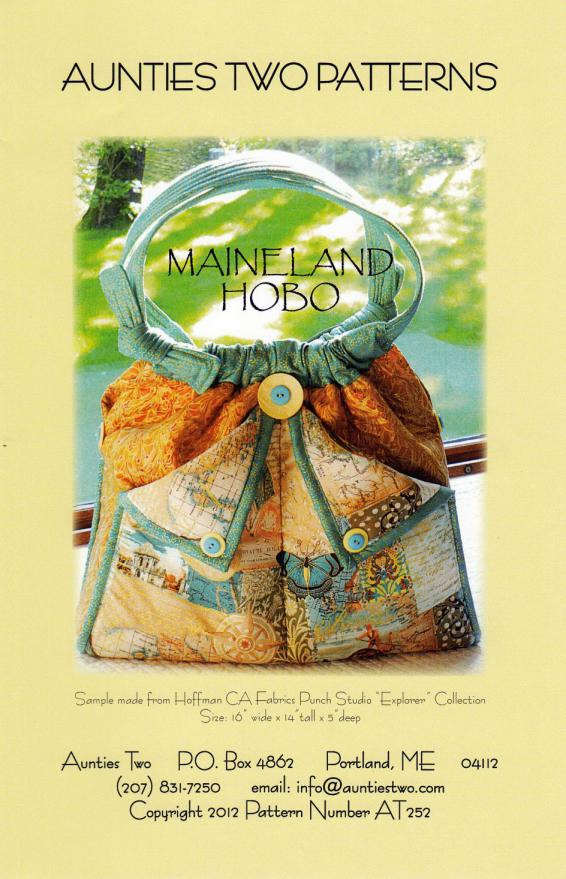 Maineland Hobo sewing pattern from Aunties Two