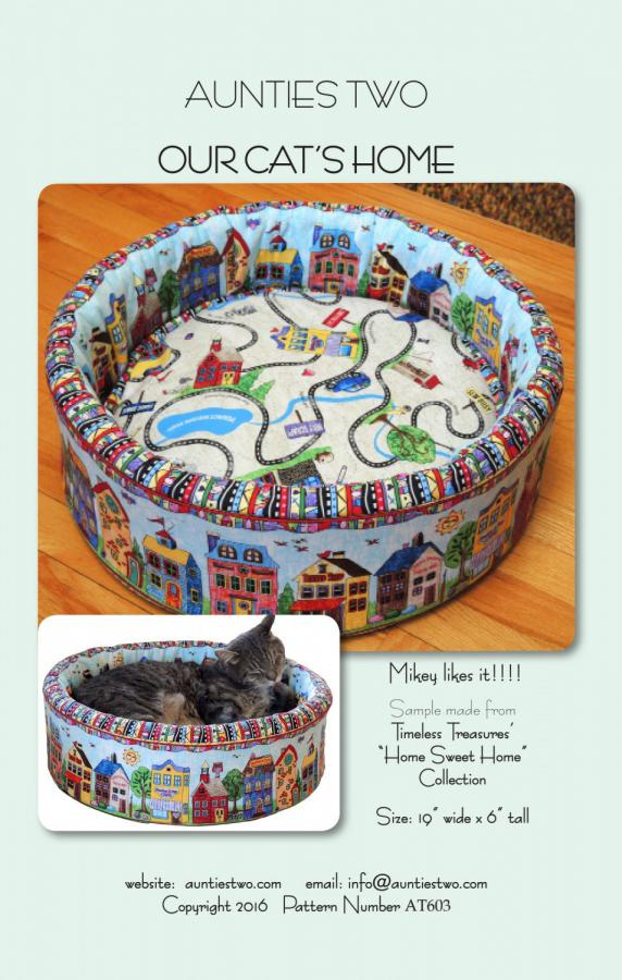 Our Cat's Home sewing pattern from Aunties Two