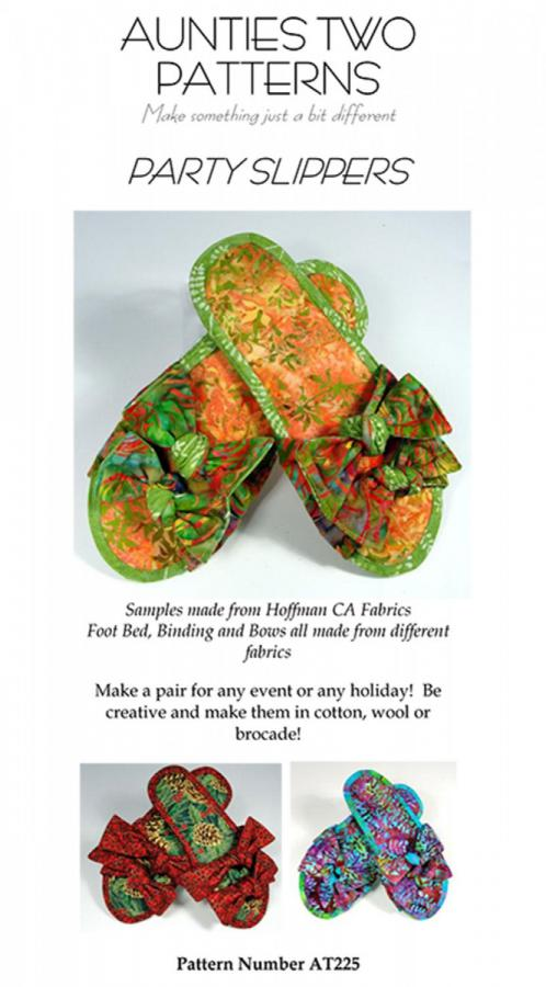Party Slippers sewing pattern from Aunties Two