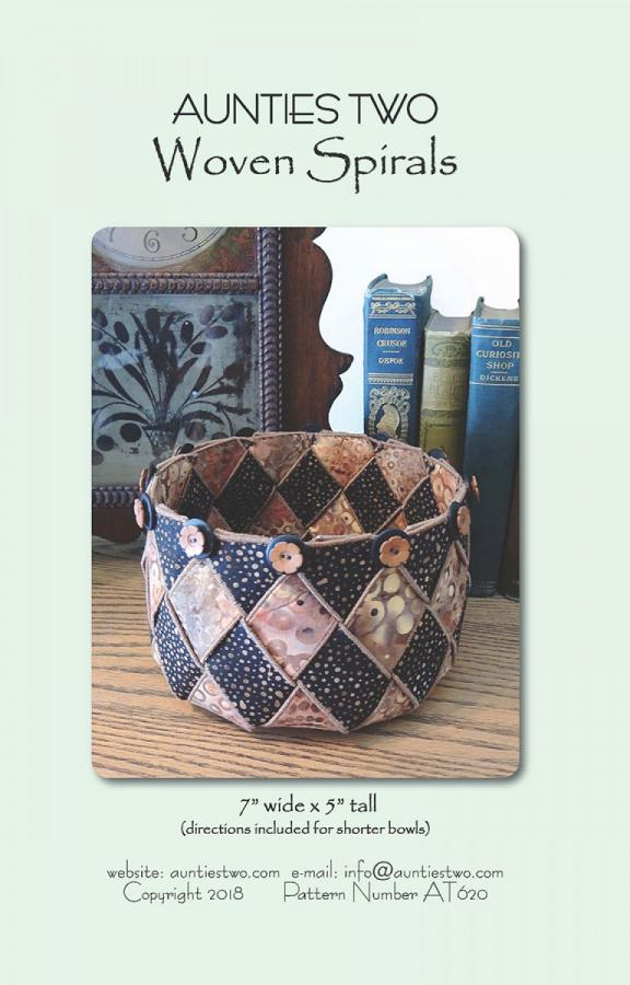 Woven Spirals basket sewing pattern from Aunties Two