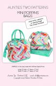 Mini Poppins Bags sewing pattern from Aunties Two