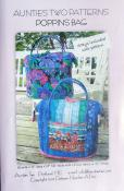 Poppins Bag sewing pattern (includes 1 set of metal structural stays) from Aunties Two