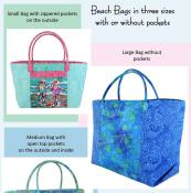 Beach Bag Trio sewing pattern from Aunties Two 2