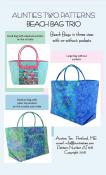 Beach Bag Trio sewing pattern from Aunties Two