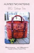 Big Sebago Tote sewing pattern from Aunties Two