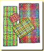 Crisscross fabric mats sewing pattern from Aunties Two 2