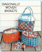 Diagonally Woven Baskets sewing pattern from Aunties Two 2
