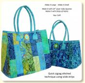 Fuse, Fold and Stitch Bags sewing pattern from Aunties Two 2