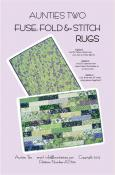 Fuse, Fold and Stitch Rugs sewing pattern from Aunties Two