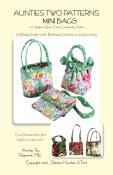 Mini Bags sewing pattern from Aunties Two