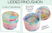 Lidded Pincushion sewing pattern from Aunties Two 2