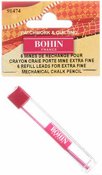 Fabric-Chalk-Mechanical-Pencil-Bohin-Refill-Pink