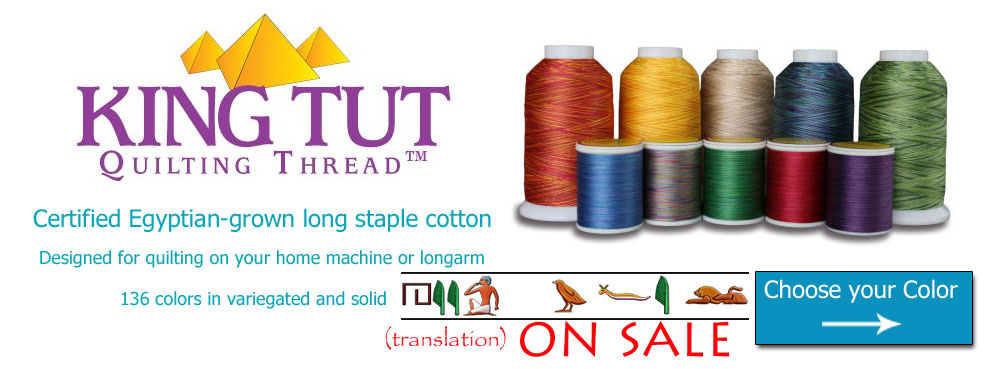 Superior King Tut quilting thread banner
