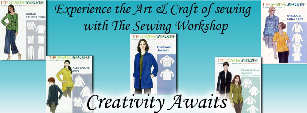 The Sewing Workshop sewing patterns banner