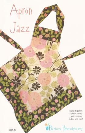Apron Jazz Apron sewing pattern from Barbara Brandeburg