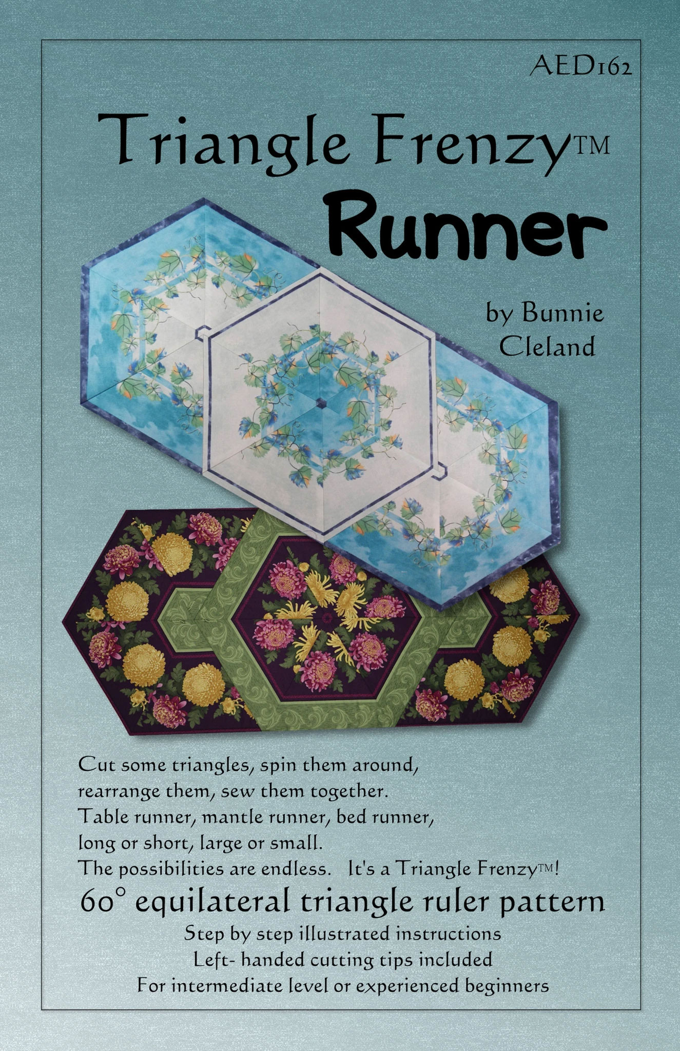 Sewing Pattern Triangles Triangle-frenzy-runner-sewing