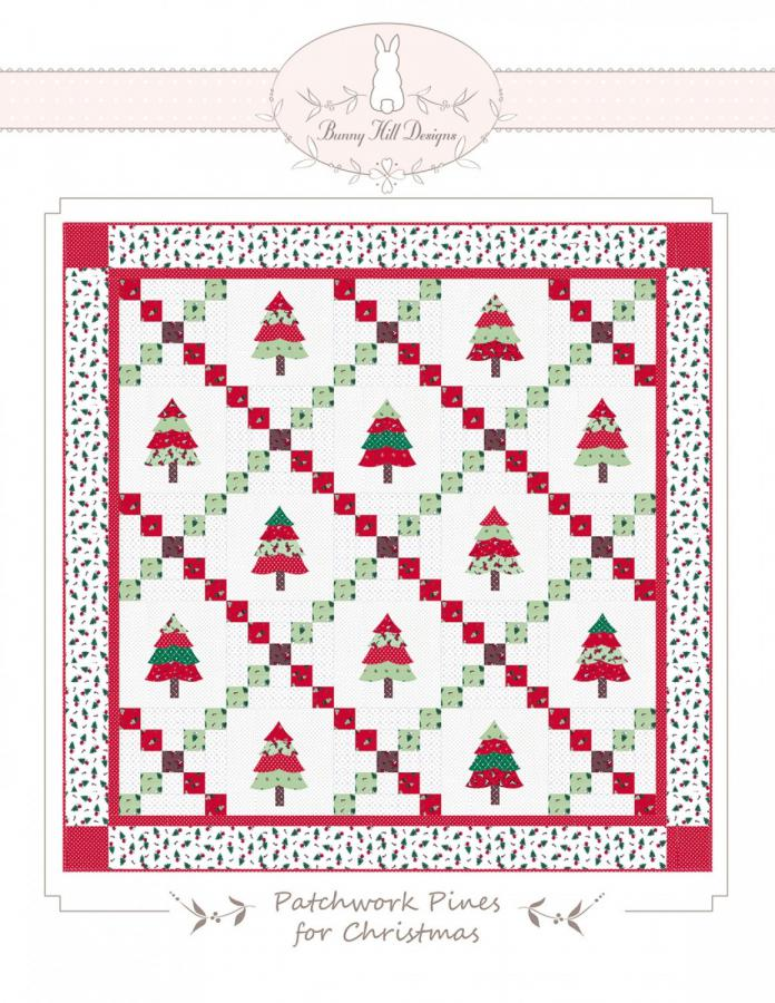Patchwork Pines for Christmas sewing pattern from Bunny Hill Designs