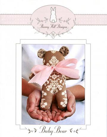 Baby Bear petite stuffed animal sewing pattern from Bunny Hill Designs