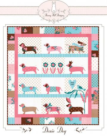 Doxie Dog quilt sewing pattern from Bunny Hill Designs