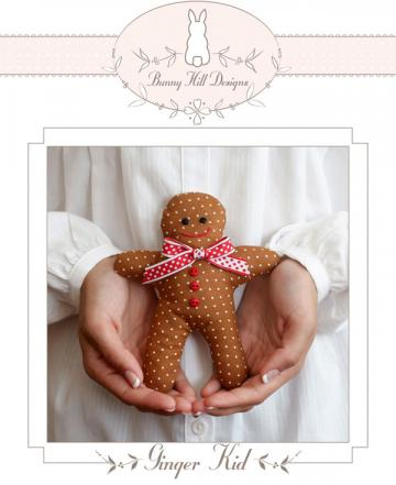 Ginger Kid petite (stuffed) sewing pattern from Bunny Hill Designs