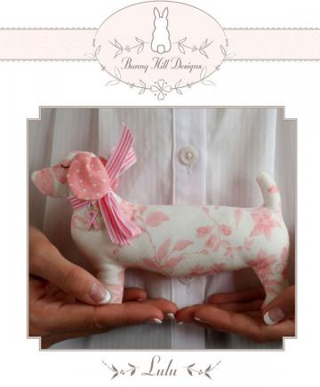 Lulu petite stuffed animal sewing pattern from Bunny Hill Designs