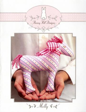 INVENTORY REDUCTION -- Molly horse petite stuffed animal sewing pattern from Bunny Hill Designs