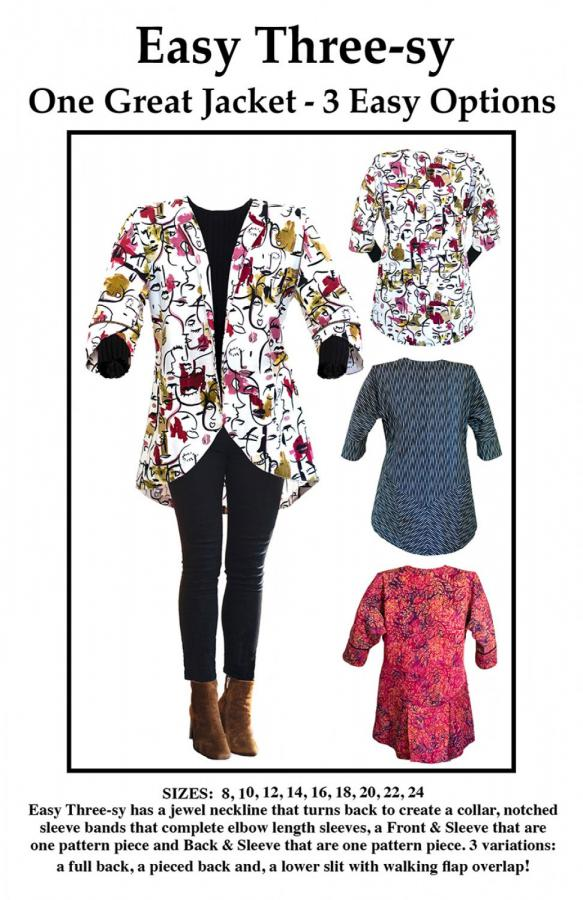 Easy Three-sy Jacket sewing pattern from CNT