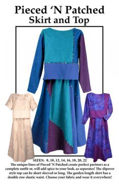 Pieced 'N Patched sewing pattern from CNT Pattern Company