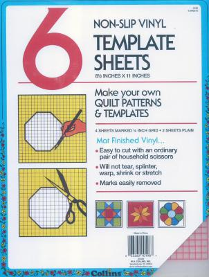 Collins NonSlip Vinyl Template Sheets - 6  8.5