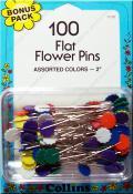 Flat Flower Pins Bonus Pack in Assorted Colors - 100 2