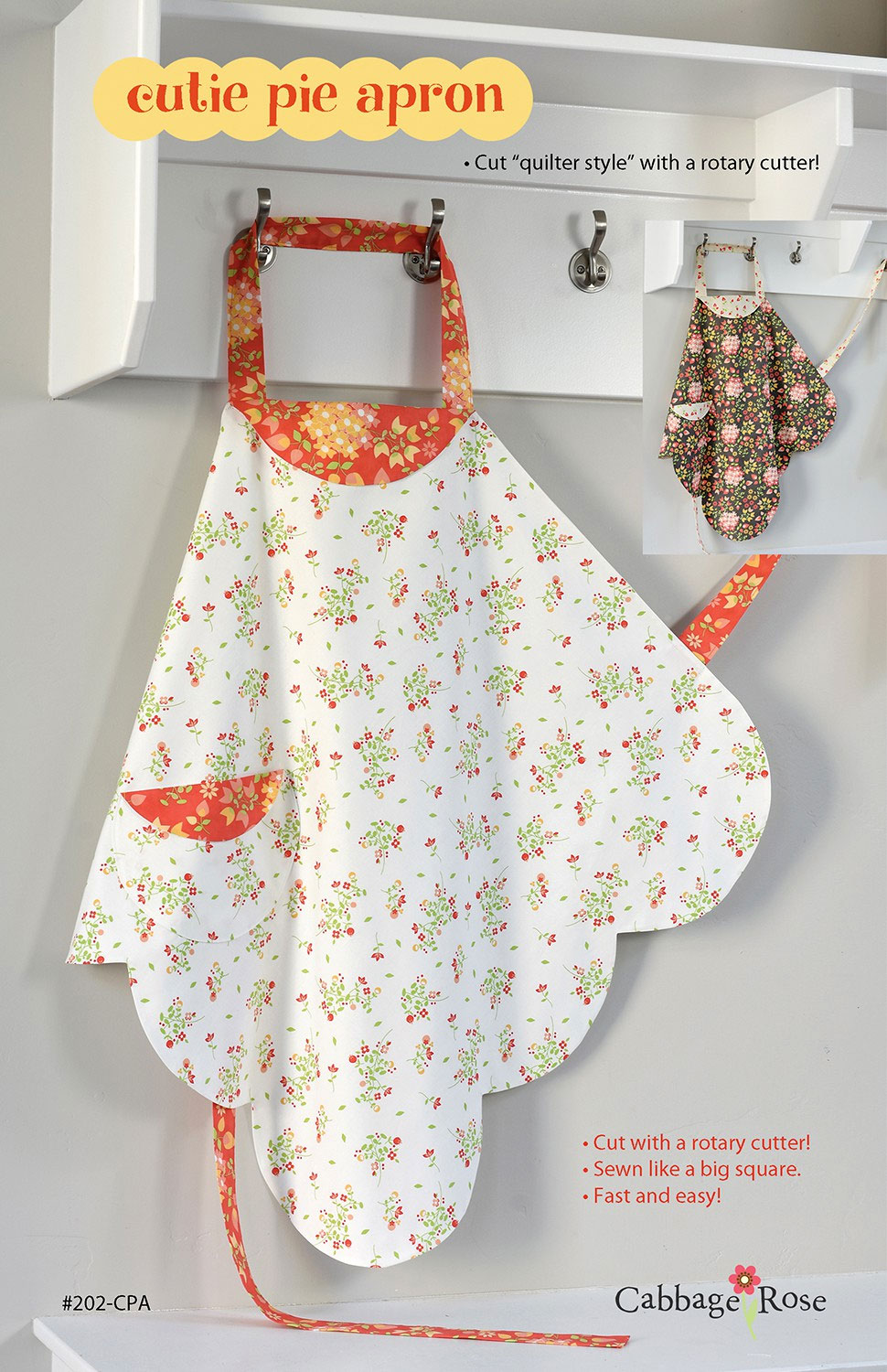 INVENTORY REDUCTION...Cutie Pie Apron sewing pattern from Cabbage Rose