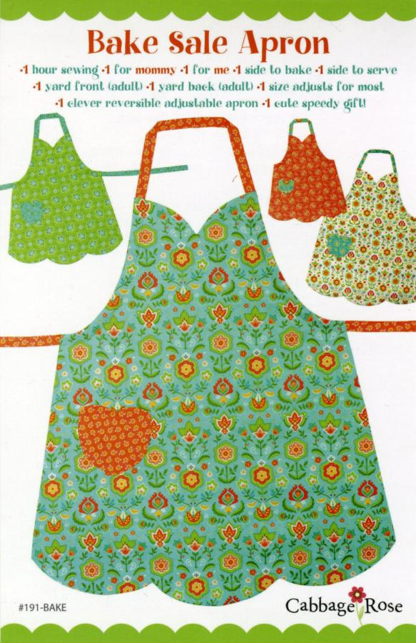 Bake Sale Apron sewing pattern from Cabbage Rose