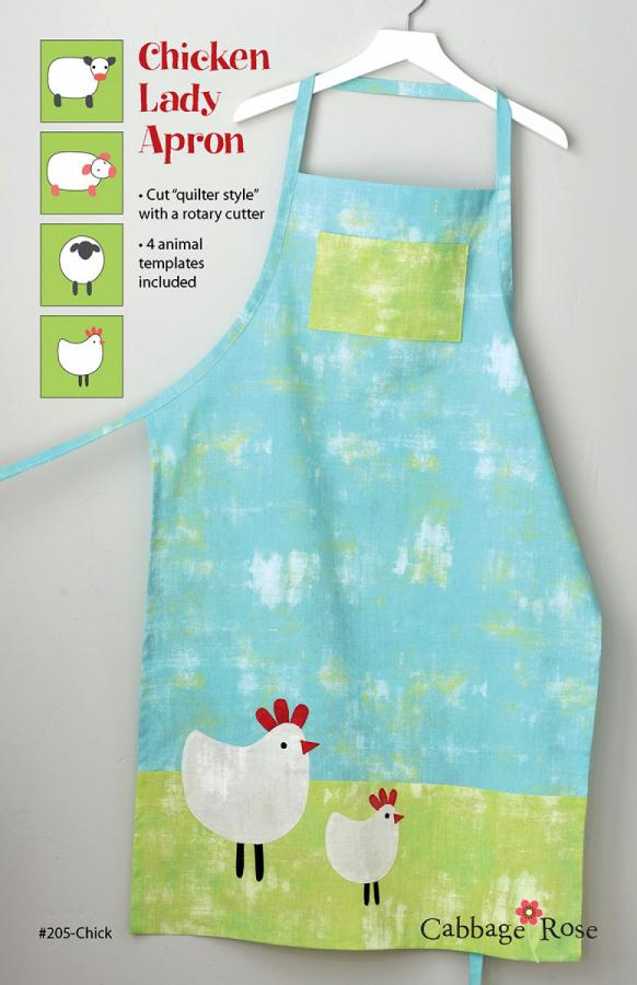 Chicken Lady Apron sewing pattern from Cabbage Rose