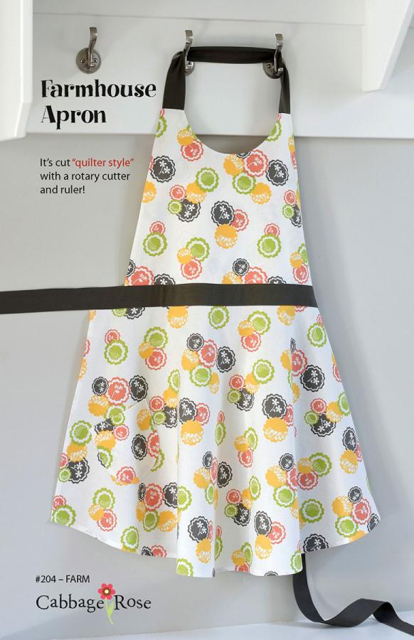 Farmhouse Apron sewing pattern from Cabbage Rose
