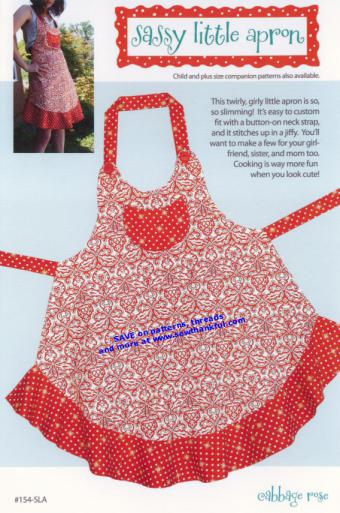 Sassy Little Apron sewing pattern from Cabbage Rose