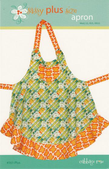 Sassy Plus Size Apron sewing pattern from Cabbage Rose