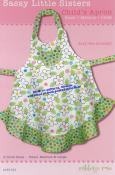 Sassy Little Sisters Child's Apron sewing pattern from Cabbage Rose