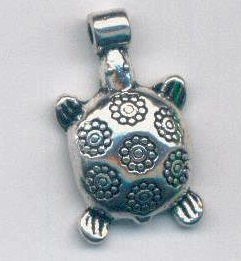TurtleWithFlowersOnShell_Charm
