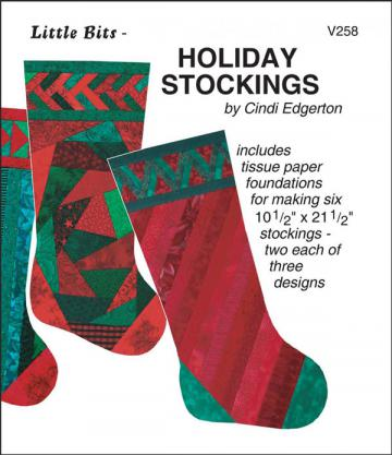 Little Bits - Holiday Stockings sewing pattern from Cindi Edgerton