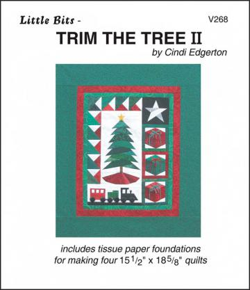 Little Bits - Trim The Tree II quilt sewing pattern from Cindi Edgerton