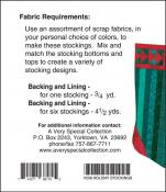 Little Bits - Holiday Stockings sewing pattern from Cindi Edgerton 1