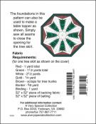 A Little Bit More - Trim The Tree - Tree Skirt sewing pattern from Cindi Edgerton 1
