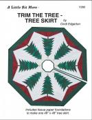 A Little Bit More - Trim The Tree - Tree Skirt sewing pattern from Cindi Edgerton