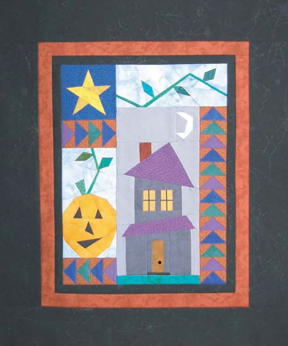 Little-Bits-Haunted-House-quilt-sewing-pattern-Cindi-Edgerton-1