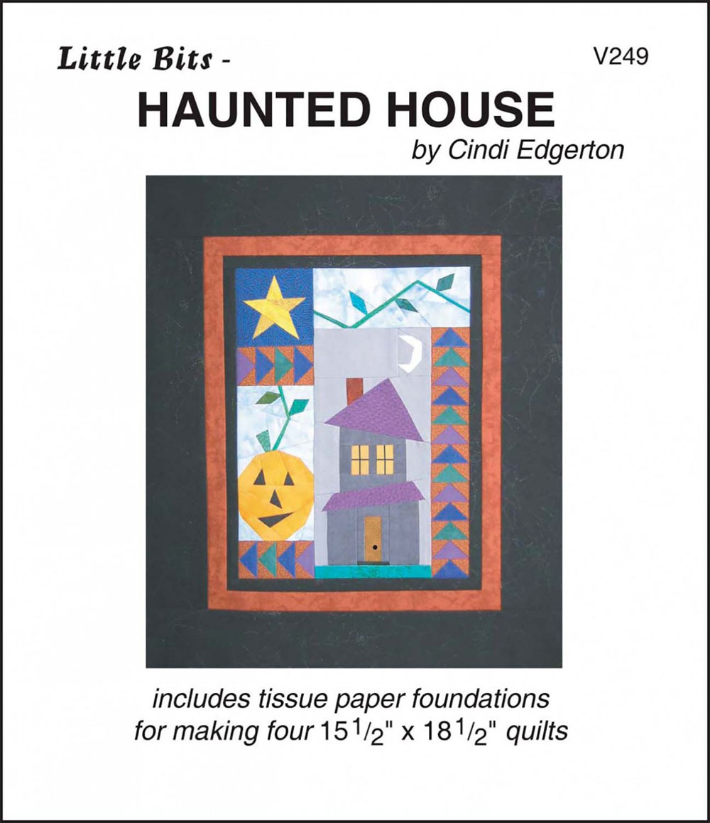 Little-Bits-Haunted-House-quilt-sewing-pattern-Cindi-Edgerton-front