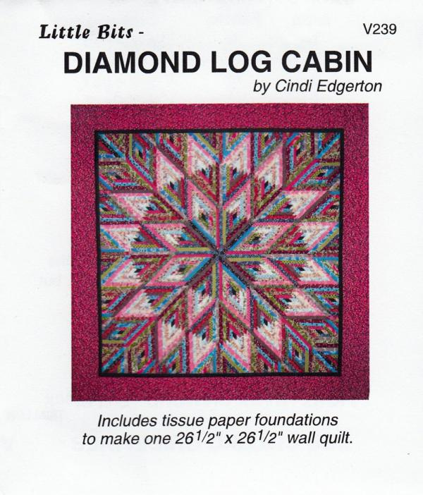 Little Bits - Diamond Log Cabin quilt sewing pattern from Cindi Edgerton